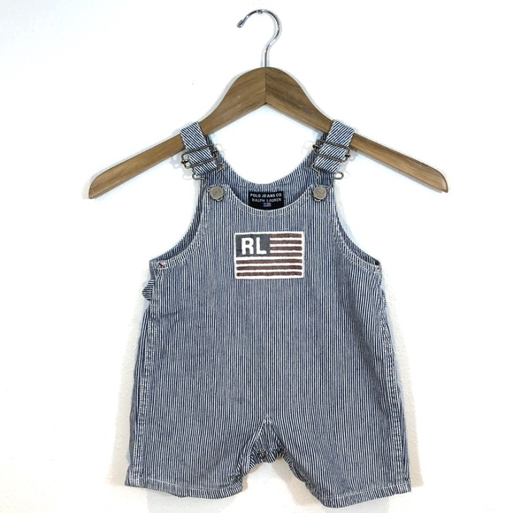 Polo by Ralph Lauren Other - Polo jeans baby 12-18 month Americana overalls